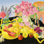 Apples Oleander and Tower - Sandra Caplan