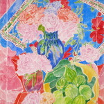 Roses, Figs and Scarf - Sandra Caplan
